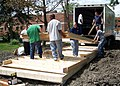US Navy 060517-N-3342W-005 Sailors from Naval Hospital Great Lakes marked Navy Week Chicago by giving back to the community, unloading building materials at a Habitat for Humanity construction project in Chicago's South Suburbs.jpg