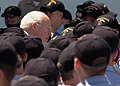 US Navy 060523-N-5822P-112 Vice President Dick Cheney greets Expeditionary Strike Group One (ESG-1) Sailors at a rally to honor their recent deployment efforts.jpg
