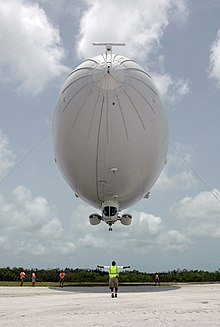 US Navy 080627-N-5240C-015 Handlers from Airship Management Services steady the Skyship 600 blimp as it prepares to touch down at Naval Air Station Key West.jpg