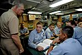US Navy 080818-N-8273J-221 Chief of Naval Operations (CNO) Adm. Gary Roughead speaks with Sailors while visiting the Los Angeles-class fast-attack submarine USS Columbia (SSN 771).jpg
