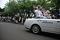US Navy 090712-N-3283P-081 Rear Adm. Richard B. Wren, commander, U.S. Naval Forces Japan and his wife wave to spectators during the Kurihama Perry Festival Parade in Yokosuka City.jpg
