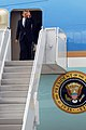 US Navy 091026-N-7682E-001 President Barack Obama arrives at Naval Air Station (NAS) Jacksonville on Air Force One.jpg