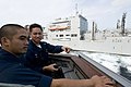 US Navy 091106-N-1251W-034 Cmdr. H. B. Le, commanding officer of the guided-missile destroyer USS Lassen (DDG 82),.jpg