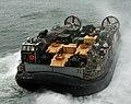 US Navy 091204-N-9740S-006 A landing craft air cushion departs the well deck of USS Bataan (LHD 5).jpg