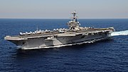 US Navy 110129-N-3885H-158 USS George H.W. Bush (CVN 77) is underway in the Atlantic Ocean
