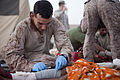 US Navy 110908-M-EU691-003 Hospital Corpsman 3rd Class Christopher Fisk, assigned to Police Advisor Team 1, 1st Battalion, 5th Marines, Regimental.jpg