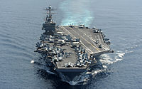 US Navy 120118-N-QH883-003 The Nimitz-class aircraft carrier USS Abraham Lincoln (CVN 72) transits the Indian Ocean.jpg