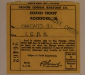 Murder of Maria Ridulph - The unused military-issued train ticket from Rockford to Chicago that was not used as evidence against Jack McCullough at his 2012 murder trial.