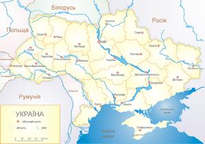 Погребище на карте страны