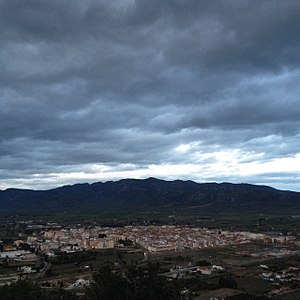 Ulldecona - View of Ulldecona with the Montsià Range in the background