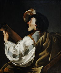 A Singer Accompanying Himself on the Lute