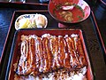 Unaju, kimosui and tsukemono by spinachdip in Nagano.jpg
