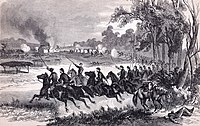 Union cavalry charge at Honey Springs, 1863.jpg