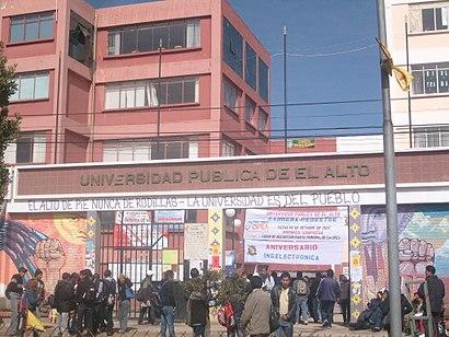 Cómo llegar a Universidad Pública De El Alto en transporte público - Sobre el lugar