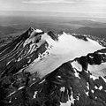 Unnamed peak near Chiginagak Volcano, terminus of mountain glacier and firn line, August 24, 1960 (GLACIERS 7070).jpg
