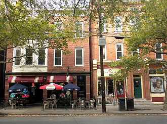 East Rock, New Haven - Restaurants on Upper State Street, East Rock's main commercial strip