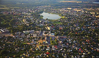 Utena City in Aukštaitija, Lithuania