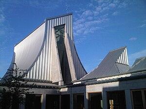 English: The Utzon Center in Aalborg, Denmark,...