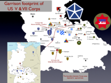 United States Army Europe Wikipedia - Germany map us army bases