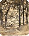 Vajda Házsor fák között 1925.jpg