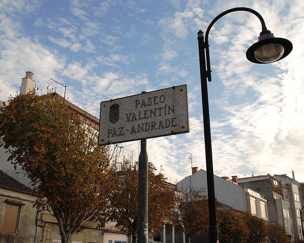 Paseo Valentín Paz-Andrade en Bouzas, Vigo.