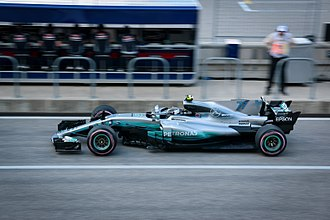 2018 FIA Formula One World Championship - Mercedes are the reigning Constructors' Champions. Pictured is the W08 EQ Power+, the car entered by the team in 2017.