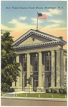 Postcard. Vance County Courthouse