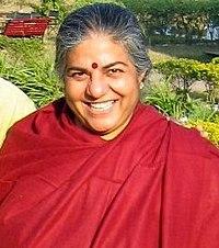 Vandana Shiva, environmentalist, at Rishikesh, 2007.jpg