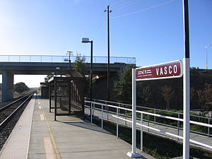 Vasco Road station - The Vasco Road Station platform