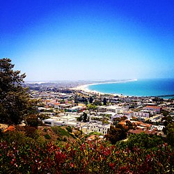 A hillside view of Ventura in June 2014.