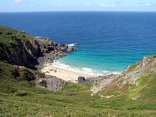 Veor Cove from Carnelloe Cliff Cornwall