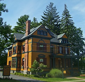 Saratoga County, New York - The historic Verbeck House in Ballston Spa.