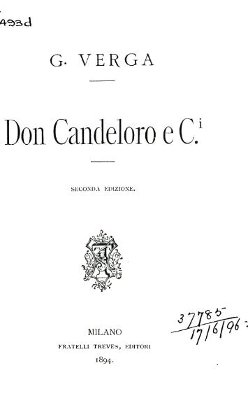 File:Verga - Don Candeloro e C., 1894.djvu