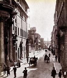 Via del Quirinale 1890 ca
