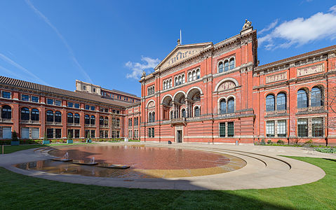 The central garden of the Victoria & Albert Museum in London.