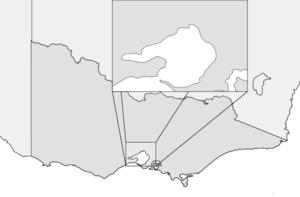 2011 Victorian Premier League - Image: Victoria map Melbourne inset