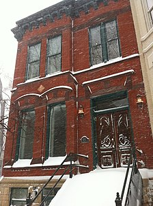 Victorian building in Lincoln Park during the storm Feb 2 2011 Chicago.jpg
