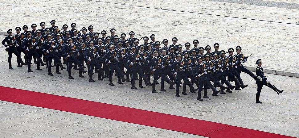 Vietnam People's Air Force honor guard at ASEAN defense ministers meeting 2010-10-12
