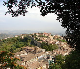 Murder of Meredith Kercher - A panorama of Perugia, the city where Kercher, Knox and Sollecito were students