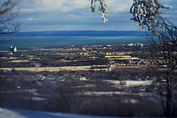 View of Collingwood, Ontario from the top of Blue Mountain Resort