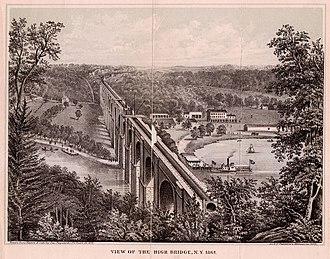 High Bridge (New York City) - View of the High Bridge, 1861.