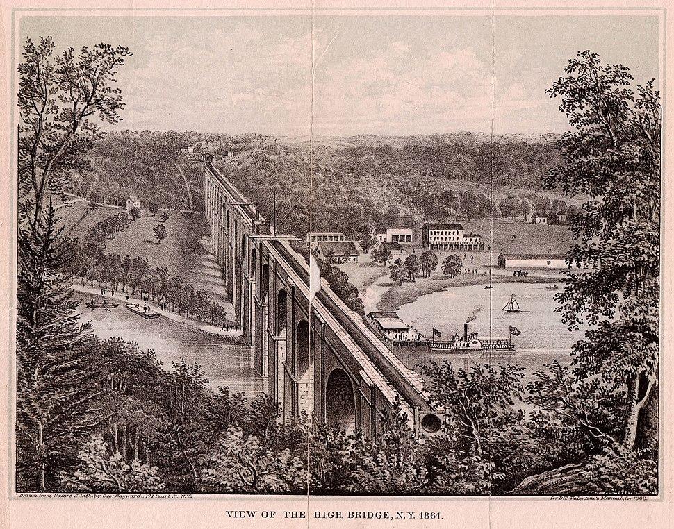 View of the High Bridge, NY 1861