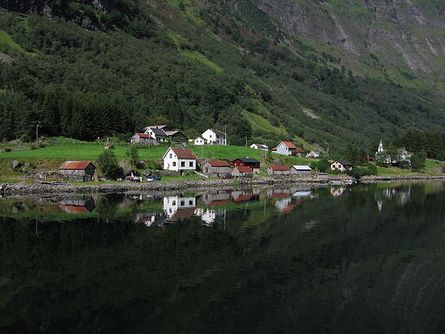 """""""Village in Norway"""". Licensed under Creative Commons Attribution-Share Alike 3.0 via Wikimedia Commons - https://commons.wikimedia.org/wiki/File:Village_in_Norway.jpg#mediaviewer/File:Village_in_Norway.jpg"""