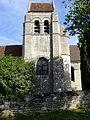 Villeneuve-sur-Verberie (60), église de Noël-Saint-Martin, clocher, vue depuis le sud.jpg