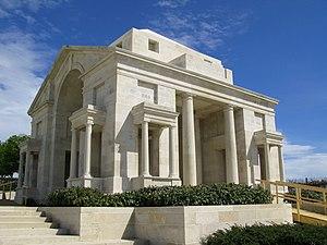 Villers–Bretonneux Australian National Memorial - Image: Villers Bretonneux mémorial australien (entrée cimetière pavillon Sud) 2