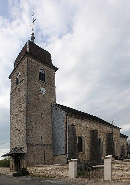 Église de Villers-sous-Montrond (Doubs).