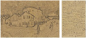 The Yellow House - Vincent van Gogh - Letter VGM 491 - The Yellow House F1453 JH 1590