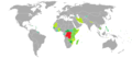 Visa requirements for DR Congo citizens.png