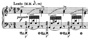 Transcendental Étude No. 6 (Liszt) - The first bar of the Transcendental Étude No. 6