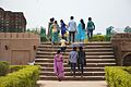 Visitors Climbing Staircase - Masjid Remains And Tomb Of Azim-un-Nisa - Mahimapur - Murshidabad 2017-03-28 6271.JPG